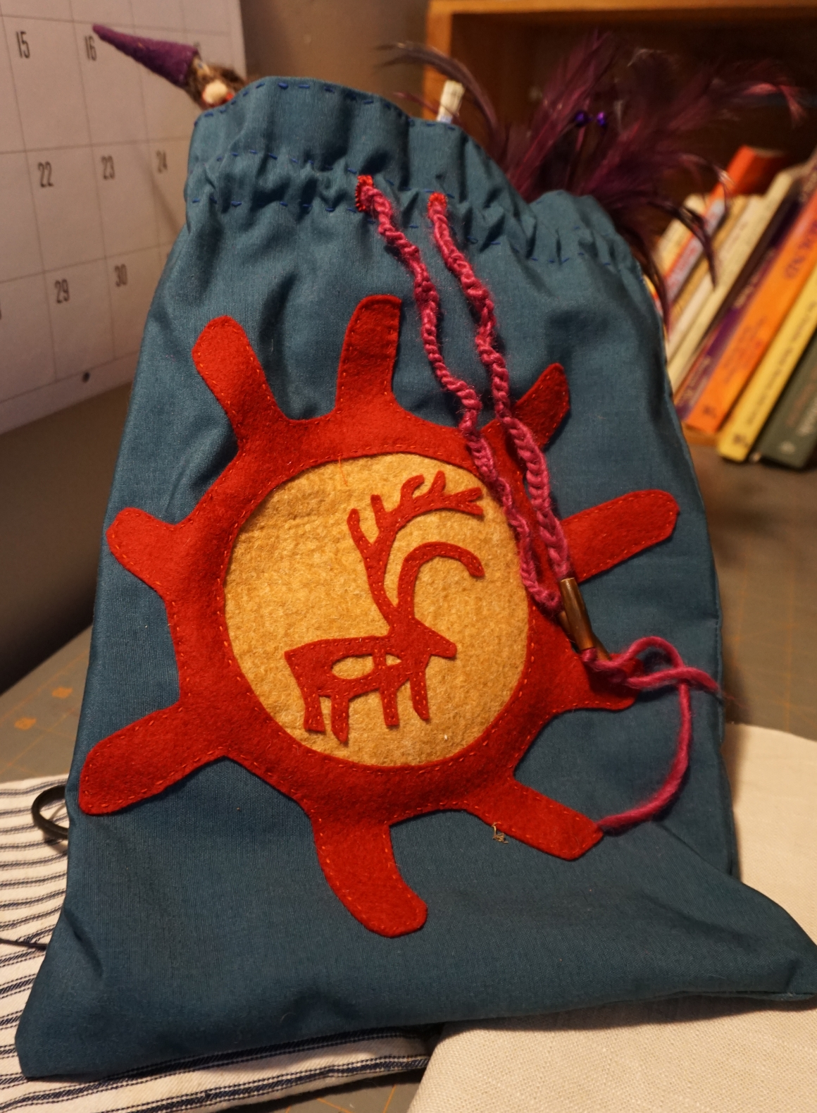 finished reindeer bag